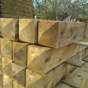 200x200mm 2.4m Wethered Top Fence Post